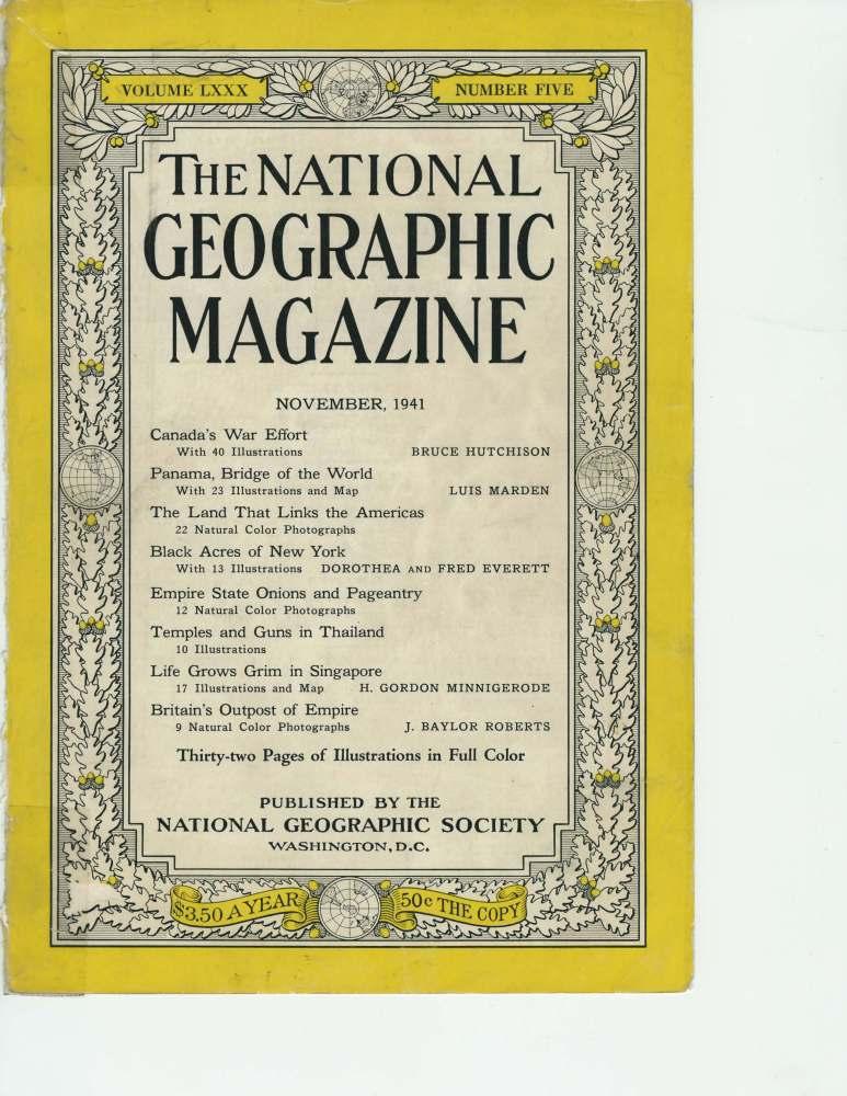 National Geographic November 1941story on the historic black dirt region of Orange County, New York (1/6)