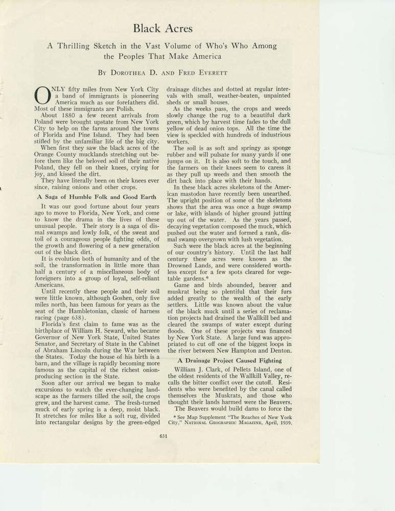 National Geographic November 1941story on the historic black dirt region of Orange County, New York (3/6)