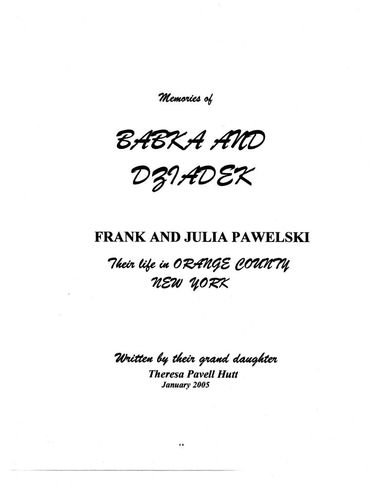 A tour for Princeton students and a little bit of family history about my great grandparents Frank & Julia Pawelski (4/6)